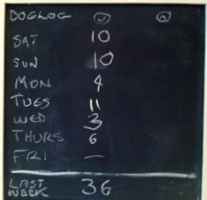 Dog log chalkboard - 06-01-2013